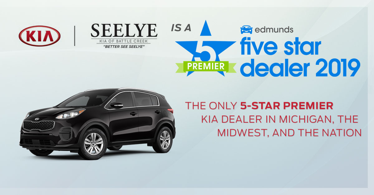 Seelye Kia of Battle Creek Premier 5-star Edmunds Award