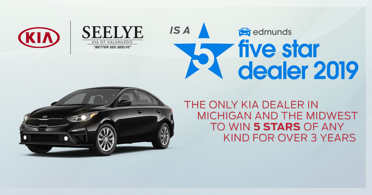 Seelye Kia of Kalamazoo 5-star Edmunds Award