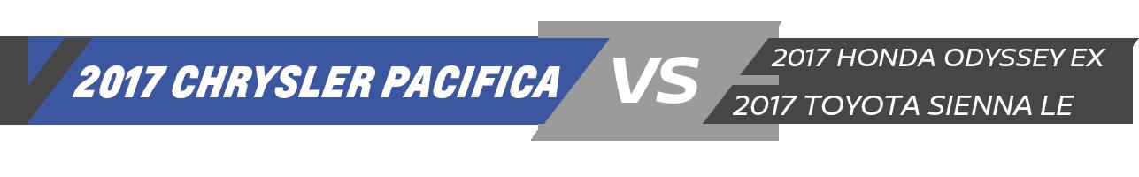 Chrysler Pacifica Vehicle Comparison