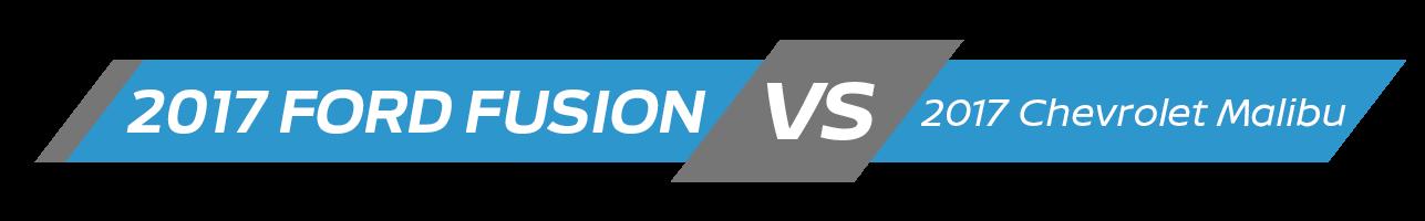 2017 Ford Fusion Vehicle Comparison