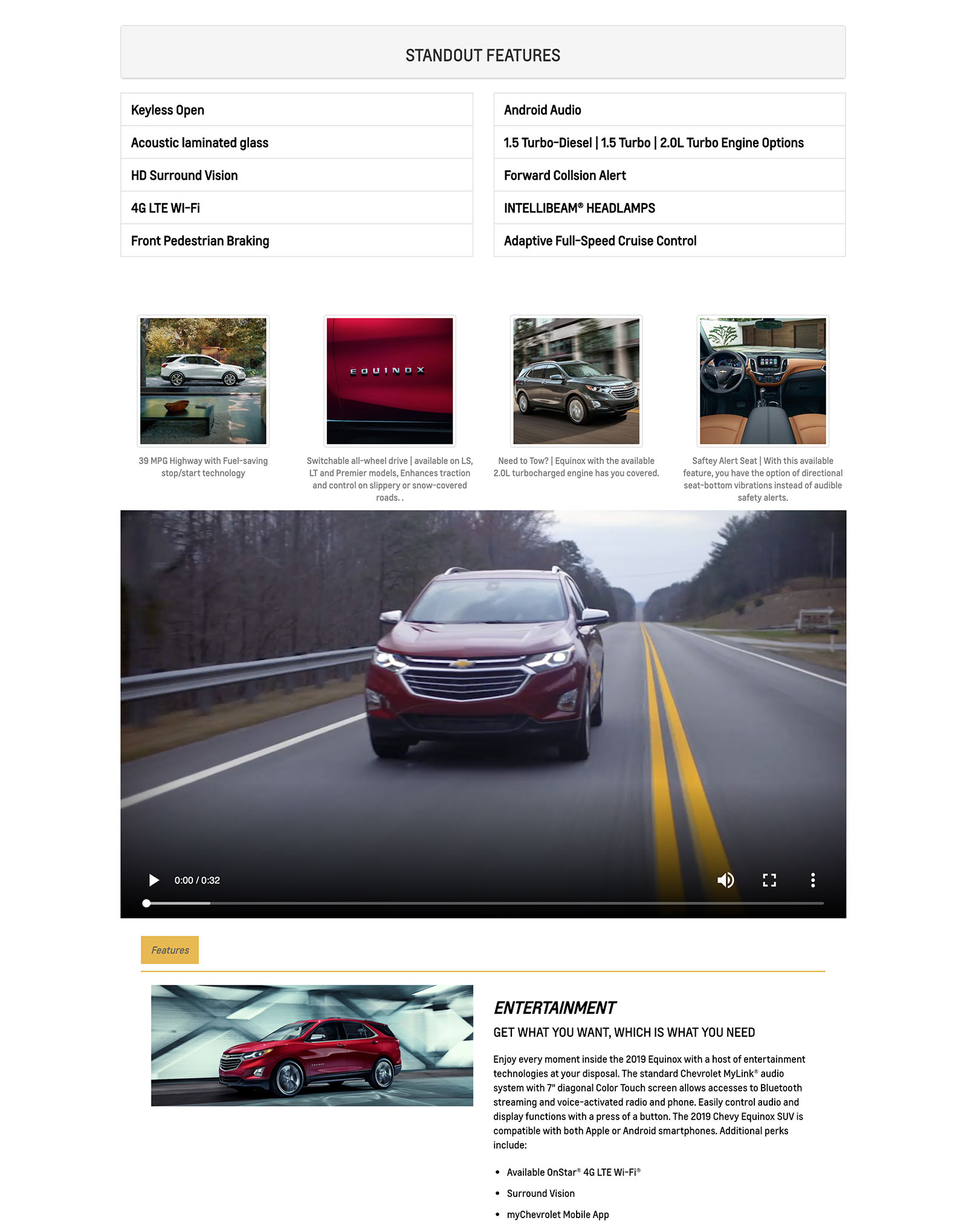 Chevy Equinox Spotlight Page
